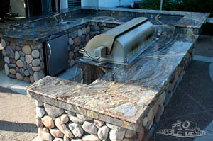 marble counter BBQ