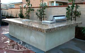 marble BBQ counter, outdoor