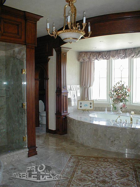 bathroom columns, woodworking trim
