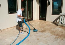 professional travertine polish